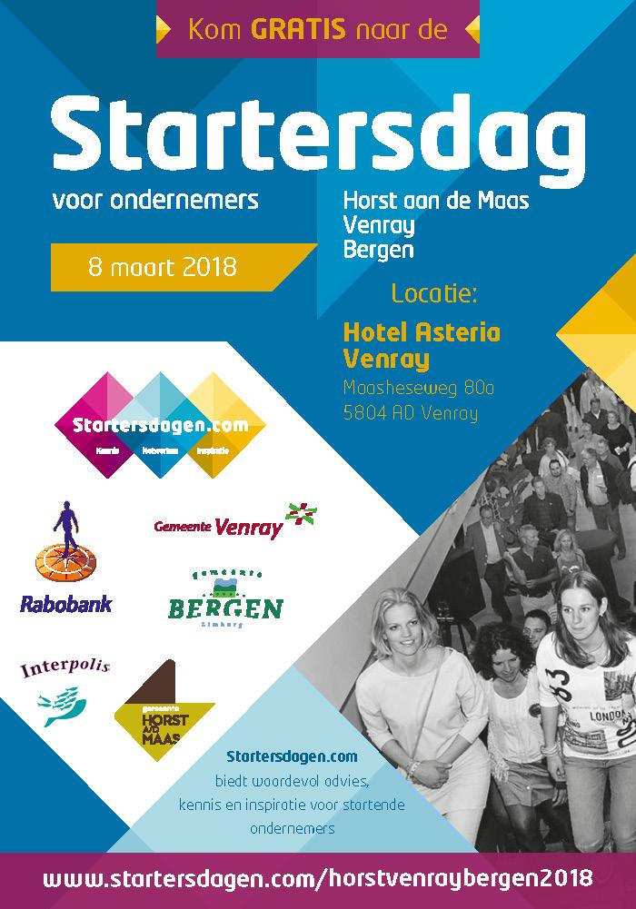 Internet Marketing Bureau SOS SEO kennispartner op Startersdag Horst Venray Bergen 8 maart 2018